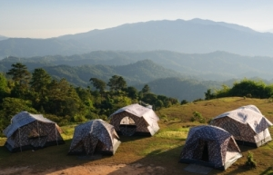 Tents in Mountains
