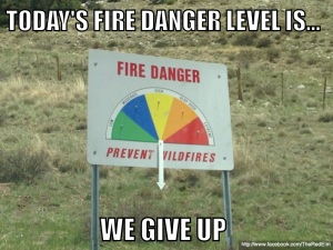 Fire Danger Level Meme