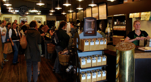 With online ordering at Starbucks you could cut this entire line.  (afagen)